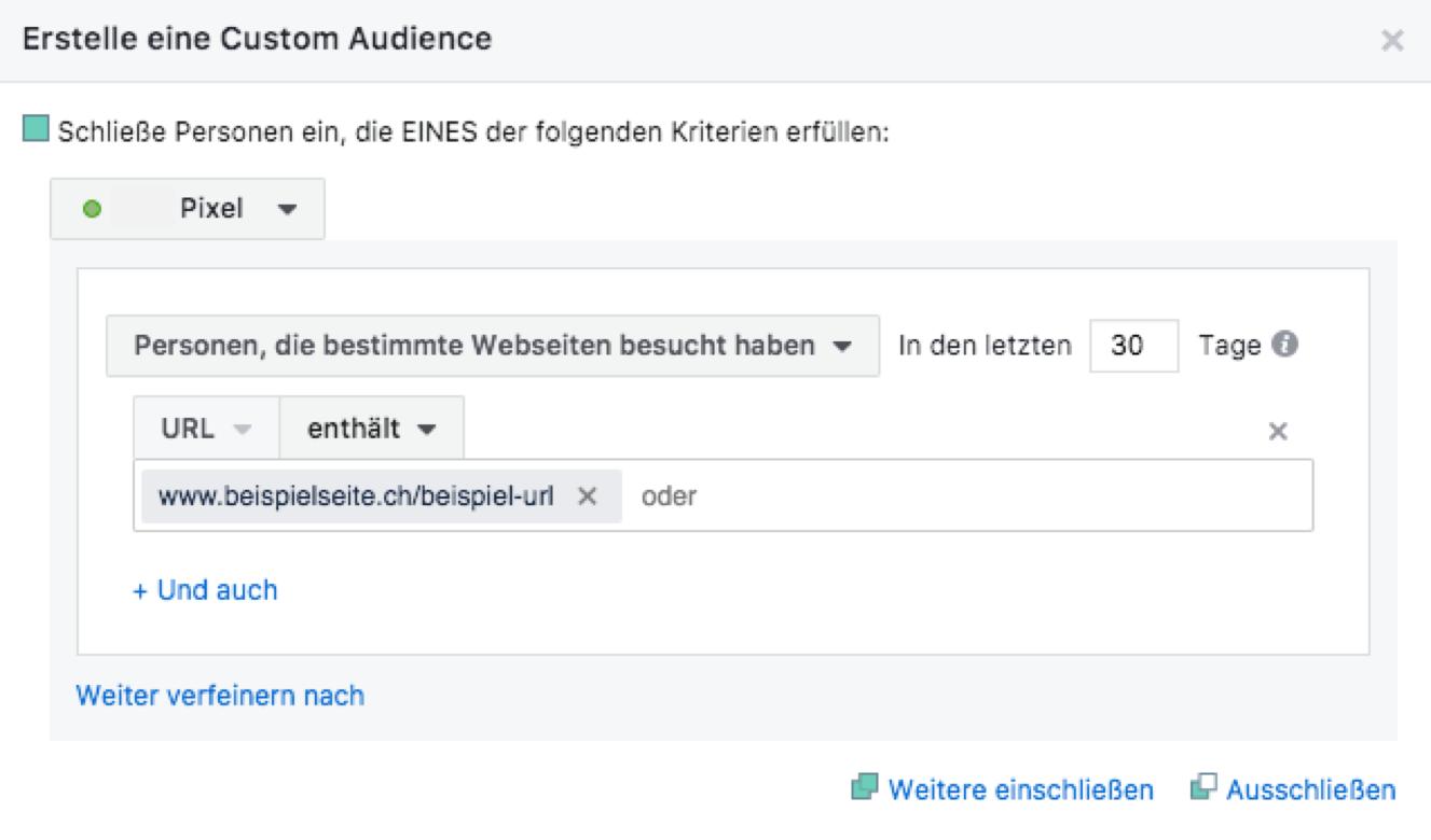 URL-basierte Custom Audience erstellen