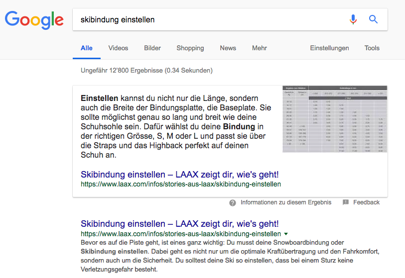 Content Marketing bei Laax